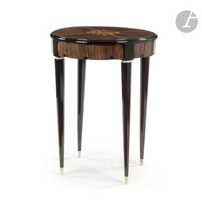 STYLE ART DÉCO Table de salon circulaire...