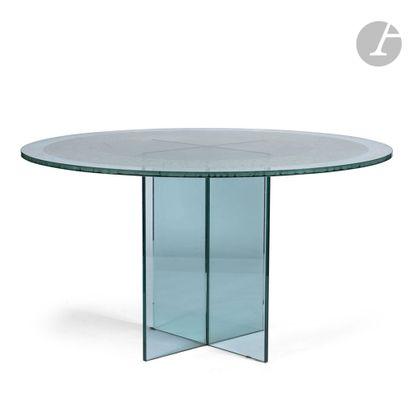 TRAVAIL MODERNE Table ronde de salle à manger...