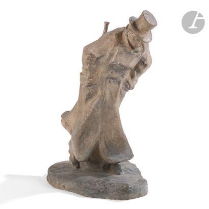 BERNHARD HOETGER (1874-1949) SCULPTEUR Der Lebemann dit aussi Le noceur, le modèle...