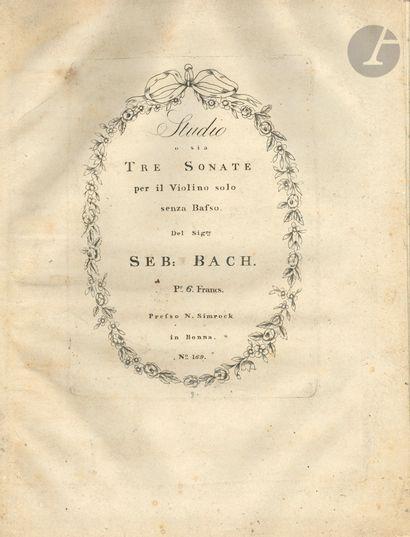 Jean-Sébastien BACH (1685-1750). Studio o...