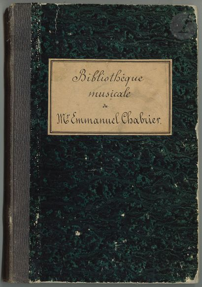 •Emmanuel CHABRIER. Manuscrit autographe...
