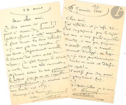 •Emmanuel CHABRIER. 2 L.A.S., [Paris] janvier-mars...