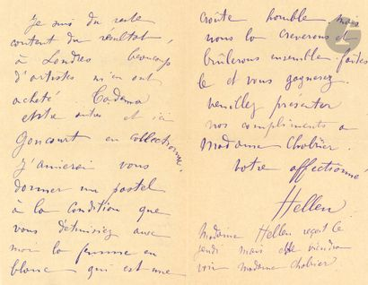 •[Emmanuel CHABRIER]. Paul HELLEU (1859-1927)....