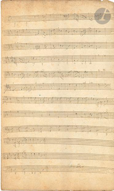 Joseph HAYDN (1732-1809). Manuscrit musical autographe, [2 Trios avec baryton];...