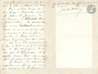 •[Emmanuel CHABRIER]. Gabriel FAURÉ (1845-1924)....