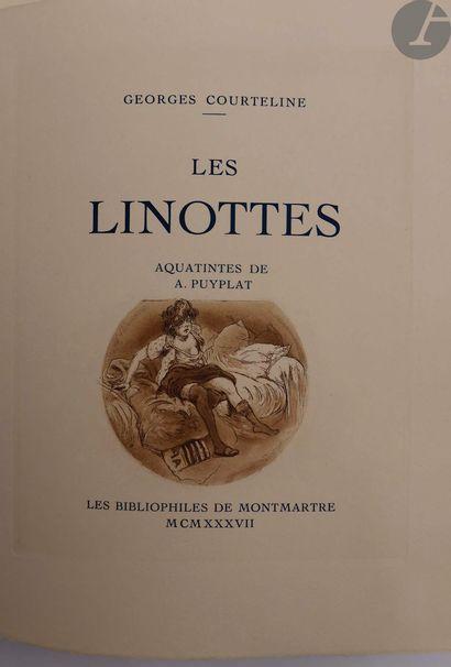 COURTELINE (Georges). Les Linottes. Aquatintes...
