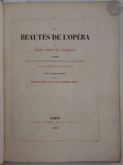 BEAUTÉS DE L'OPÉRA (Les) ou chefs-d'œuvre...
