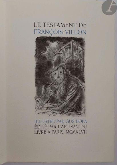 BOFA (Gus) - VILLON (François). Le Testament...
