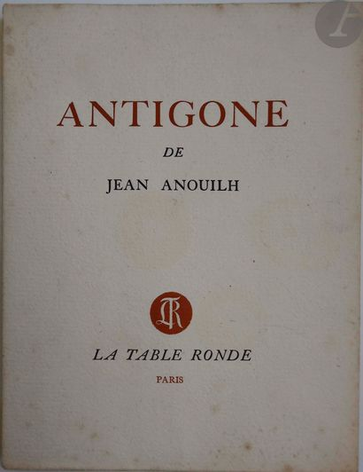 ANOUILH (Jean). Antigone. Tragédie. Paris...