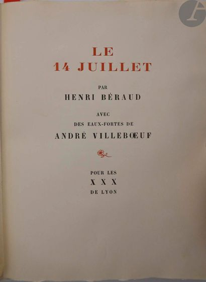 BÉRAUD (Henri) - VILLEBŒUF (André). Le 14...