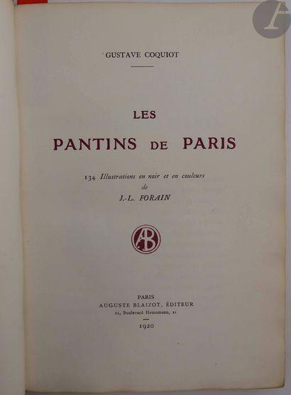 COQUIOT (Gustave) - FORAIN (Jean-Louis)....
