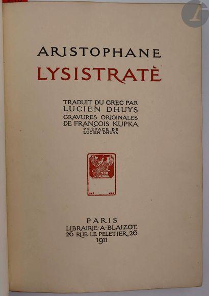 ARISTOPHANE - KUPKA (François). Lysistraté....