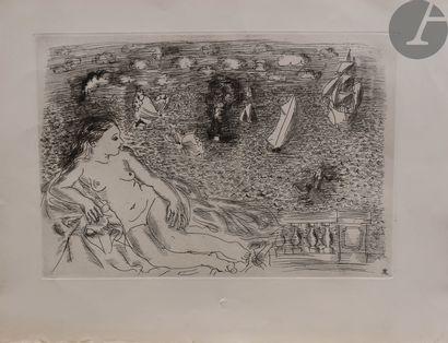 Raoul Dufy (1877-1953) Balcon sur la mer...