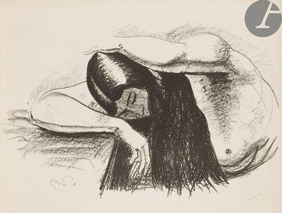André Derain (1880-1954) Femme en buste tournée...
