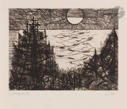 Marcel Gromaire (1892-1971) Sapins; Clairière....