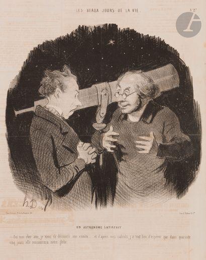Honoré Daumier (1808-1879) Les Beaux jours de la vie, pl. 1 à 50. 1843-1845. Lithographie....