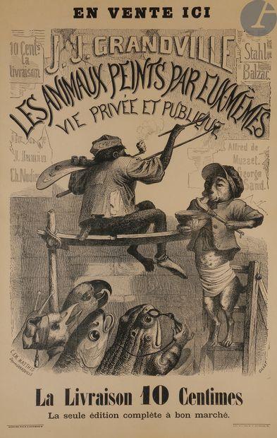 Grandville (Jean-Ignace-Isidore Gérard, dit) (1803-1847) (d'après) Les Animaux peints...