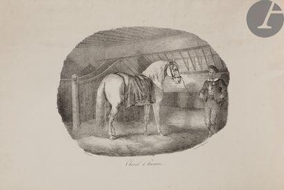 Théodore Géricault (1791-1818) Chevaux d'Auvergne;...