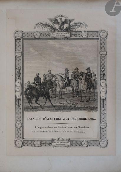 Sujets napoléoniens d'après Carle Vernet (1758-1836) - Relation de la bataille de...