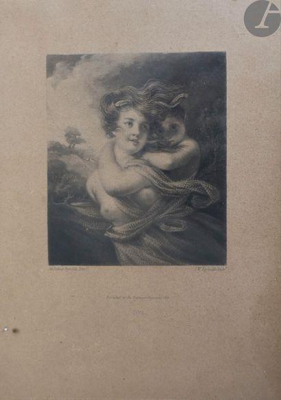 Joshua Reynolds (1723-1792) (d'après) Jeune pâtre [A shepherd boy]; Jeune femme...