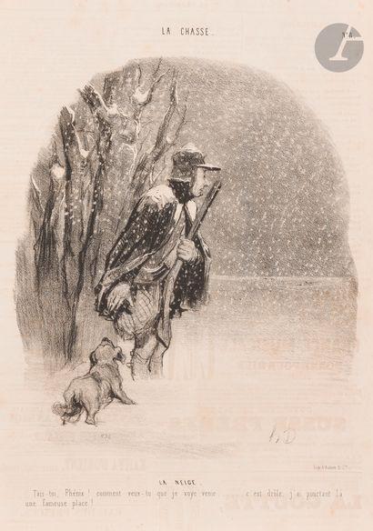 Honoré Daumier (1808-1879) La Chasse, pl....