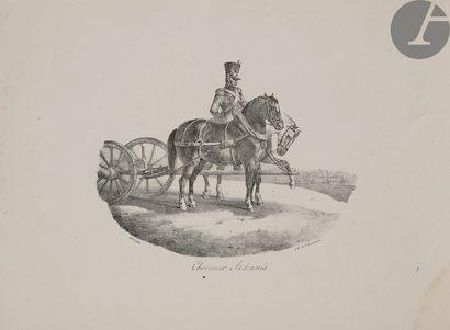 Théodore Géricault (1791-1818) Chevaux d'Auvergne; Chevaux Ardennés; Cheval d'Hanovre;...