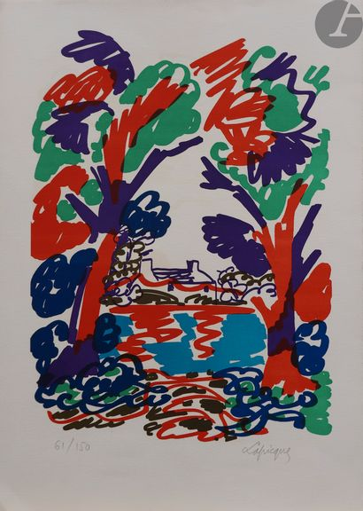 Charles Lapicque (1898-1988) Rivière bretonne....