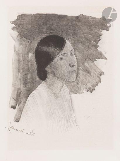 Henri Martin (1860-1943) Rêverie. 1892. Lithographie. 230x280. I.F.F. 1. Très...