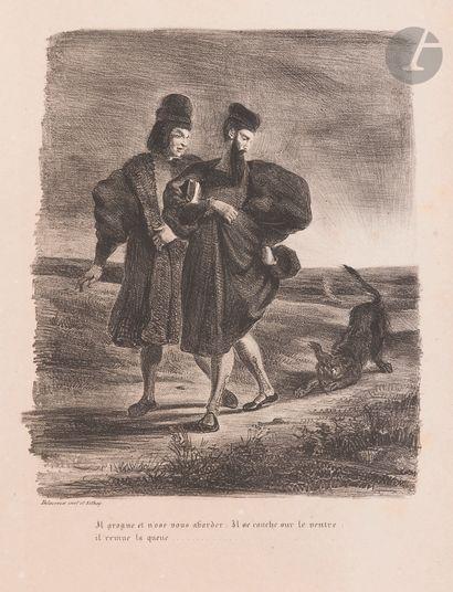 Eugène Delacroix (1798-1863) Faust, Méphistophélès et le barbet. (Pl. pour le Faust...