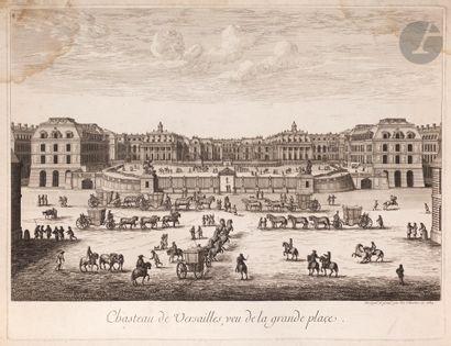 Israël Silvestre (1621-1691) Veuë et Perspective du Chasteau de Versailles du costé...