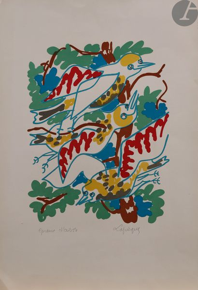 Charles Lapicque (1898-1988) Les Oiseaux....