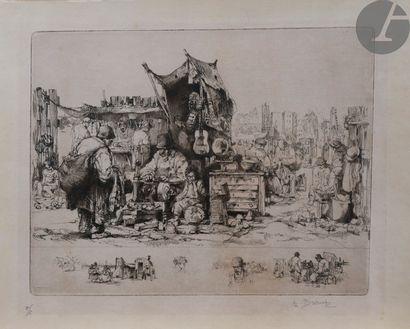 Auguste Brouet (1872-1941) La Foire (au centre,...