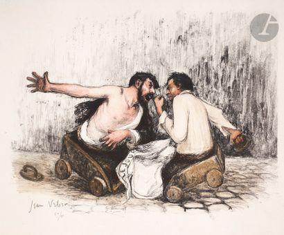 Jean Veber (1864-1928) La Discussion politique. 1904. Lithographie. 333x260. Veber...