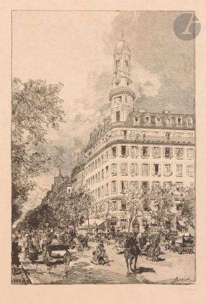 Auguste Lepère (1849-1918) Hôtel de la compagnie La New York, boulevard des Italiens....