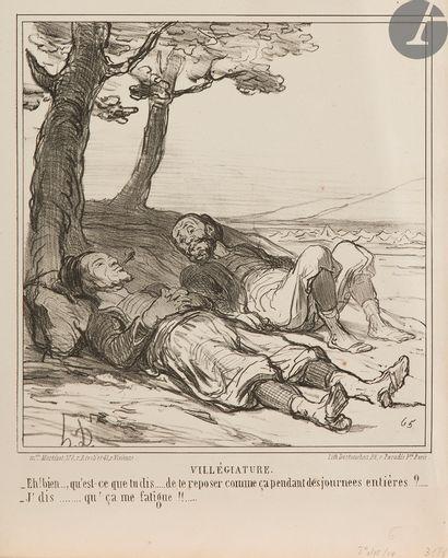 Honoré Daumier (1808-1879) Au bivouac. 1859....