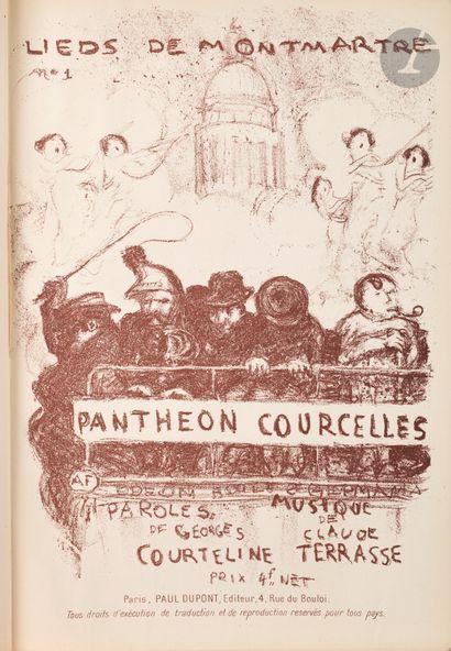 Pierre Bonnard (1867-1947) Panthéon-Courcelles (Lieds de Montmartre, n°1). Paris,...