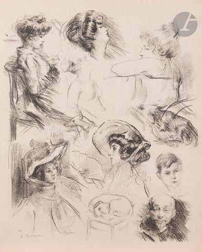 Albert de Belleroche (1864-1944) Feuille...