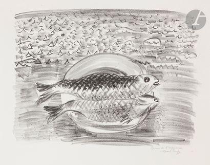 Raoul Dufy (1877-1953) L'Assiette aux poissons....
