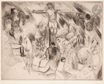 Charles Dufresne (1876-1938) Les Trois croix....