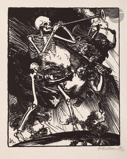 Auguste Lepère (1849-1918) La Mort et les passions vont fondre sur le monde. (Pl....