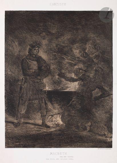 Eugène Delacroix (1798-1863) Macbeth consultant...
