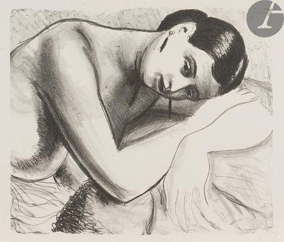 André Derain (1880-1954) Femme vers la droite,...