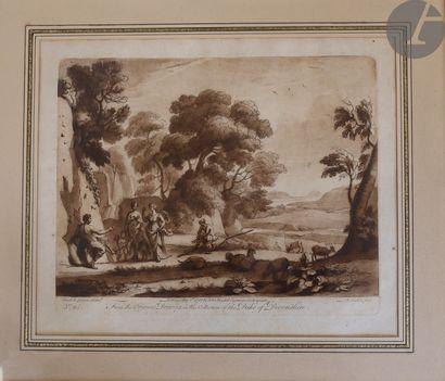 Richard Earlom (1743-1822) Scènes pastorales dans des paysages. 1775. Eau-forte...