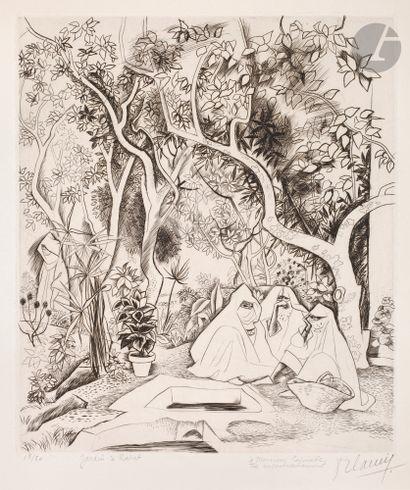 Robert Cami (1900-1975) Jardin à Rabat. Vers...