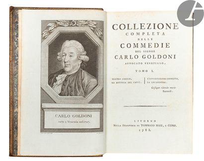GOLDONI (Carlo). Collezione completa delle...