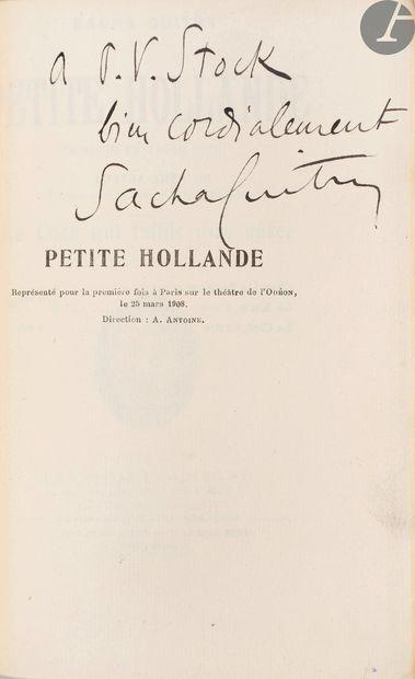 GUITRY (Sacha). Petite Hollande. Comédie...