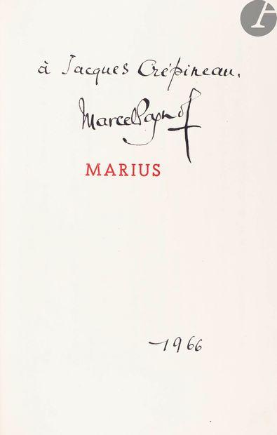PAGNOL (Marcel). Marius. Pièce en quatre...
