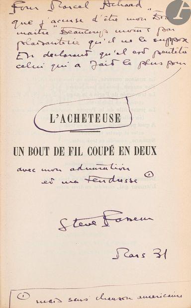 ACHARD (Marcel). Ensemble de 7 ouvrages de Marcel Achard ou provenant de sa bibliothèque:...