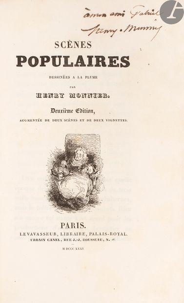 MONNIER (Henry). Scènes populaires, dessinées...