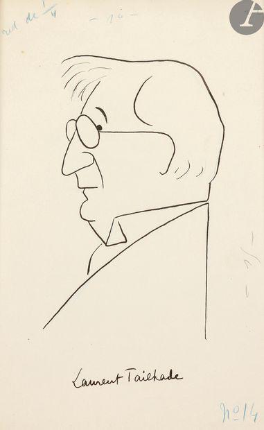 Sacha GUITRY (1885-1957).4 dessins originaux,...